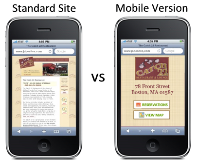 Mobile-Site-vs-Standard-Site